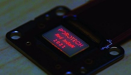 Porotech Produces World's First Native Red InGaN Microdisplay